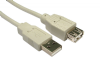 USB 2.0 A to A Extension Lead - 0.5 Metre